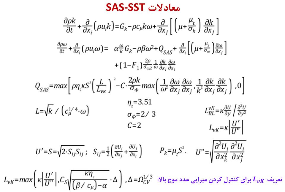 فرمولاسیون مدل آشفتگی انتقالی SAS-SST.