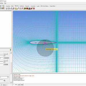 j,gdn شبکه باسازمان c شکل حول ایرفویل با استفاده از نرم افزار ICEM-CFD