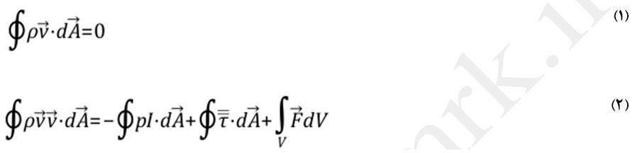 معادلات پیوستگی و ممنتم