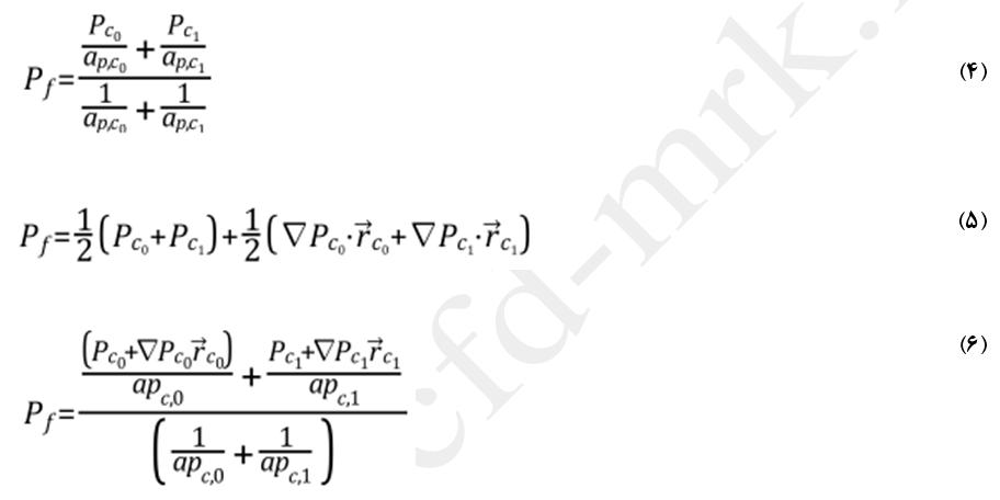 معادلات میانیابی فشار