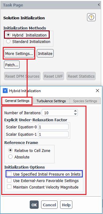 پانل شرط اولیه ترکیبی hybrid initialization