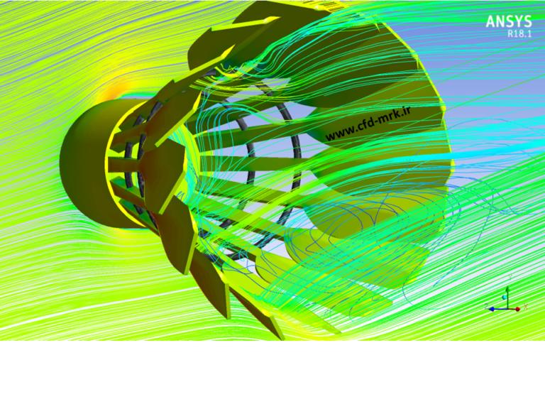 شبیهسازی CFD توپ بدمینتون (Shuttlecock CFD Simulation)