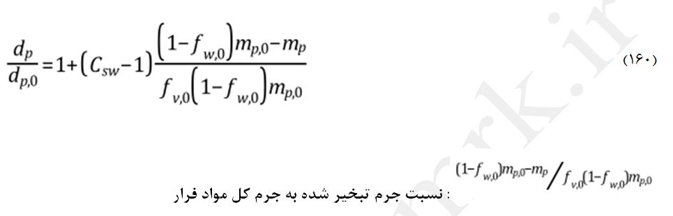 تورم ذرات در مدل CPD