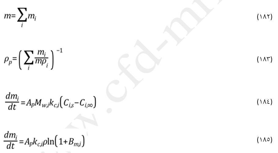 تعریف ذرات چند مؤلفهای در مدل DPM