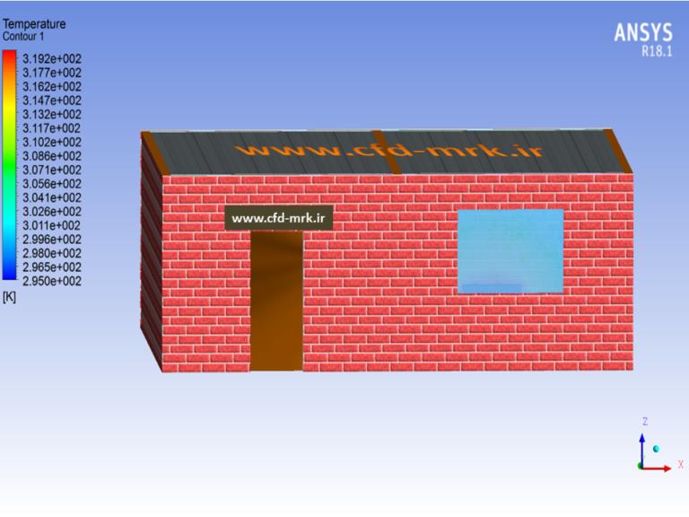 شبیهسازی CFD گرمایش ساختمان (Building Heating CFD Simulation)