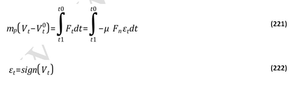 معادلات برخورد سرشی ذرات در DPM