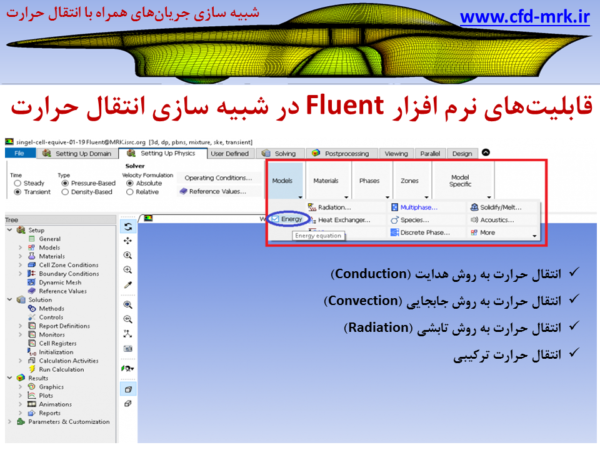 آموزش مقدماتی نرم افزار Fluent قسمت چهارم: کلیات شبیه سازی انتقال حرارت