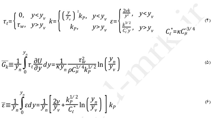 معادلات توابع دیواره نامتعادل-2