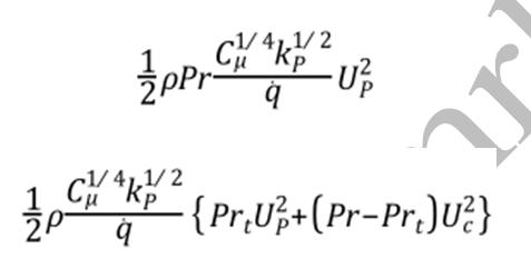 ترمهای حلگر فشار مبنا در تابع استاندارد دیواره