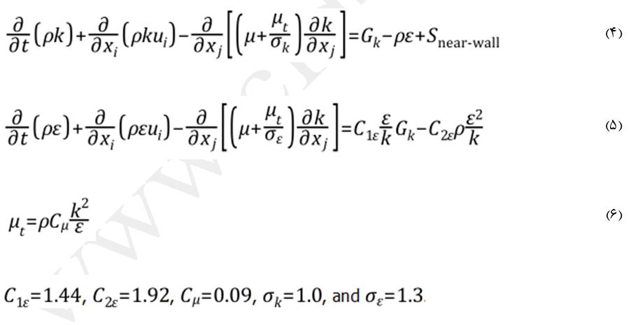 معادله K_E پردازش نزدیک دیواره منتر-لچنر