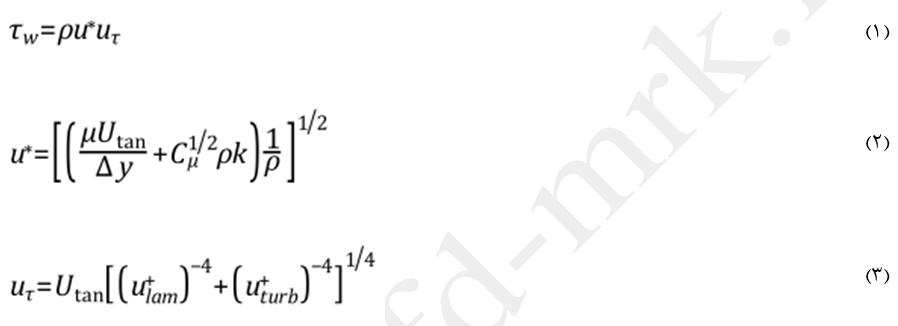 معادله ممنتم پردازش نزدیک دیواره منتر-لچنر