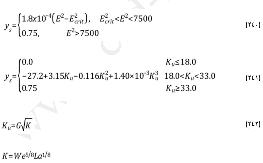 معادلات برخورد در رژیم پاشش قطره در مدل استانتن-روتلند (The Stanton-Rutland Model)